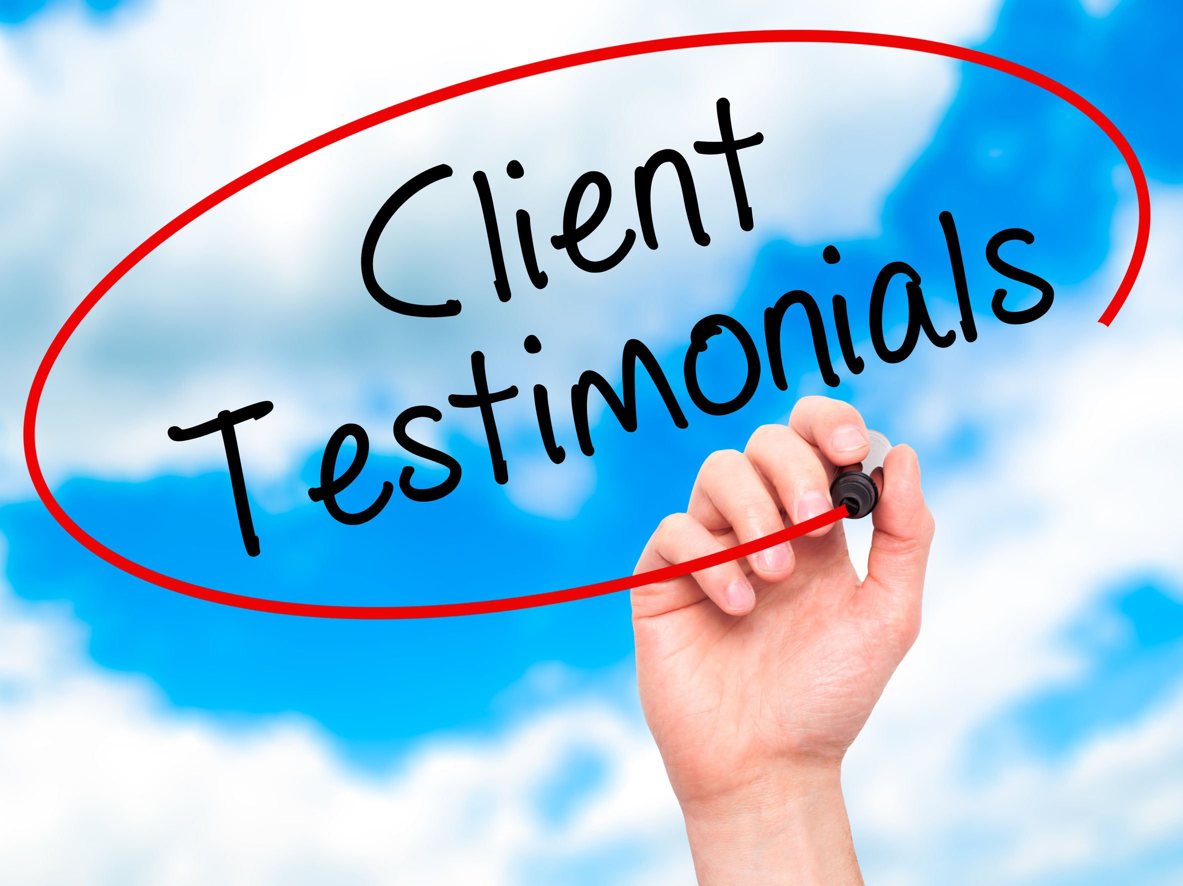 Client Testimonial Page